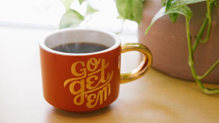 De geur van koffie....