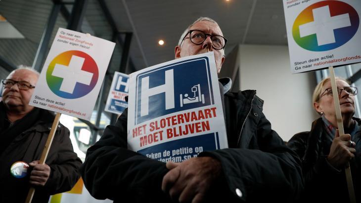Protest bij het Slotervaartziekenhuis