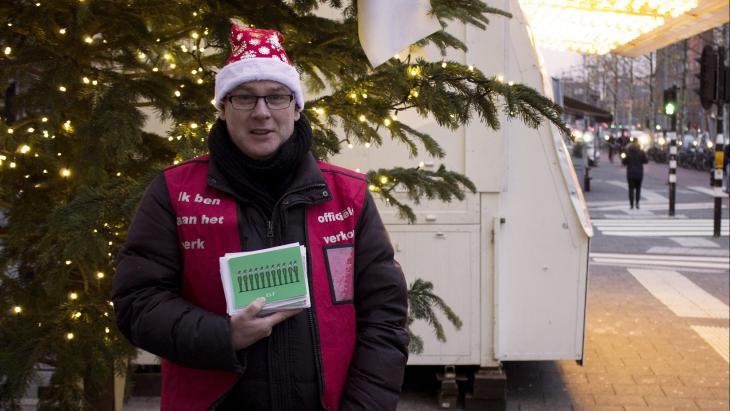 Z!-verkoper met kerstkaart