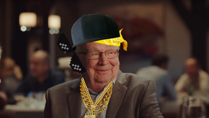 ING-campagne met 'blitse opa'