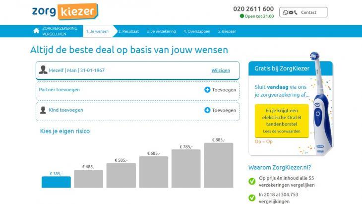 Zorgkiezer.nl Gratis Oral B tandenborstel