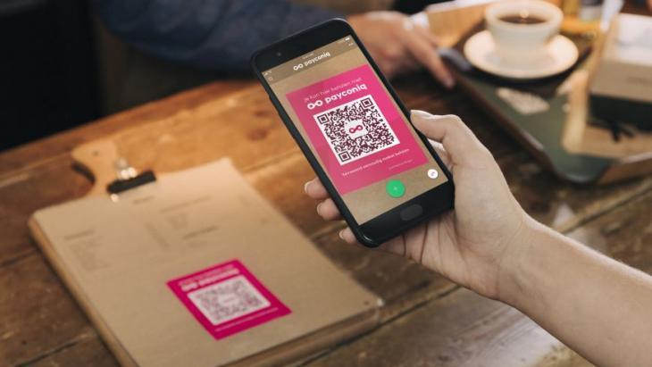 Payconic-app met QR-code