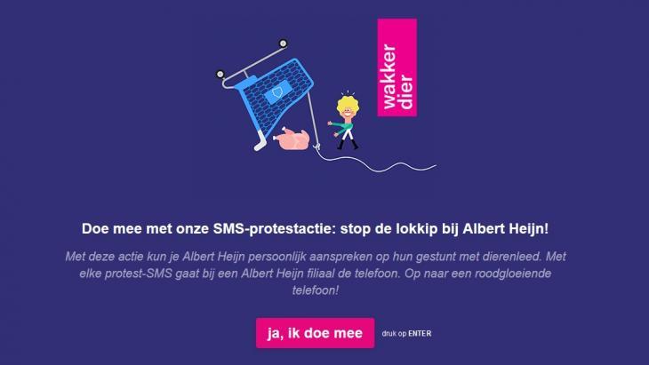 Telefoonbombardement Albert Heijn