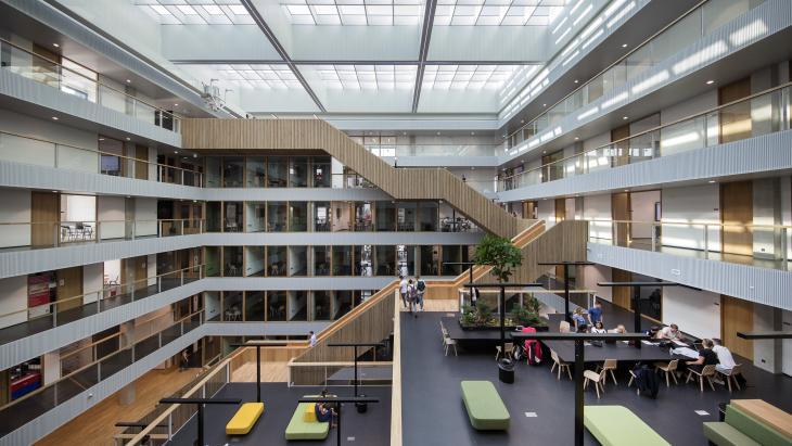 Beeld uit een van de locaties van de Hogeschool Rotterdam