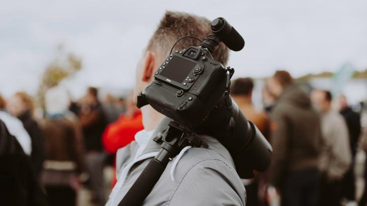 Mathias Arlund - Video creation at festival