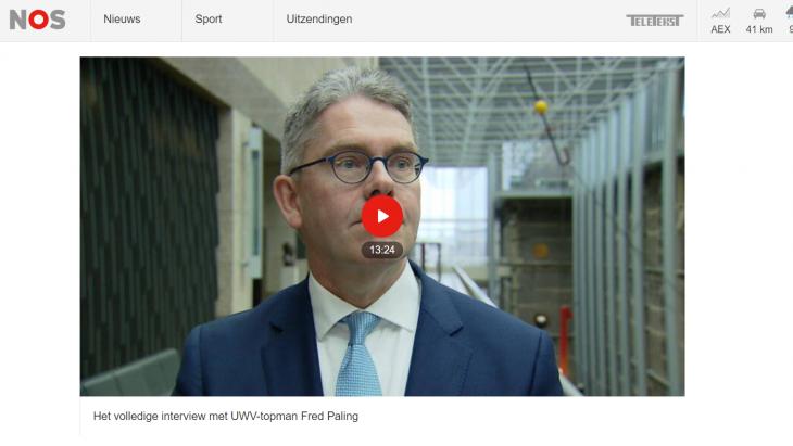 Screenshot van de Nieuwsuur-site met het integrale interview.