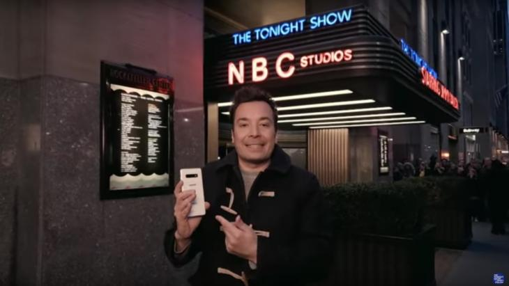 Jimmy Fallon prijst Samsung aan
