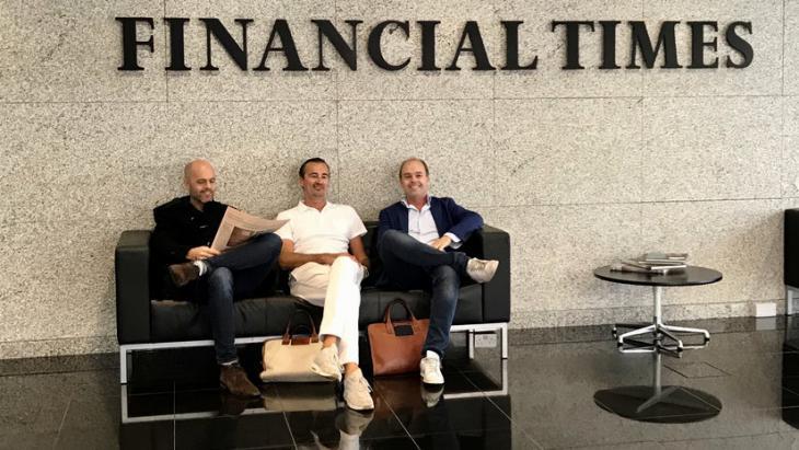 Foto: Van links naar rechts: Patrick de Laive (Founder TNW), Boris Veldhuijzen van Zanten (Founder and CEO TNW) en Robert Jan de Laive (CFO TNW).