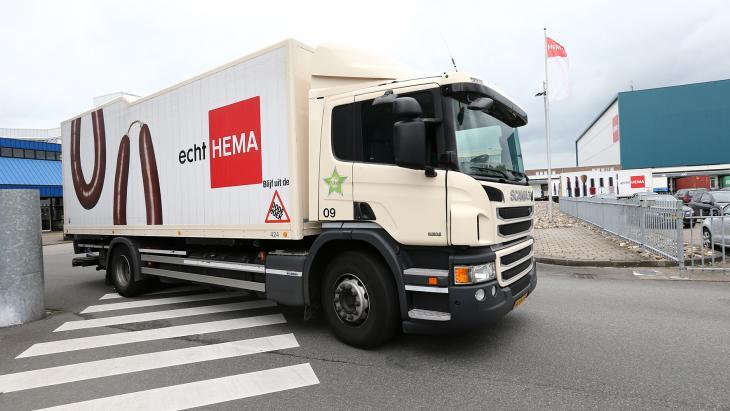Hema vrachtwagen