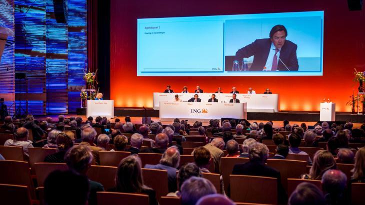 De ING-aandeelhoudersvergadering