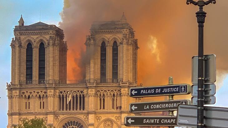 De Notre Dame in brand