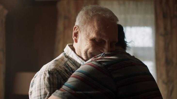 Knuffelen met opa