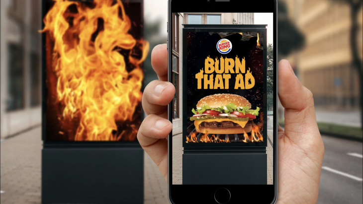 Burger King AR ad