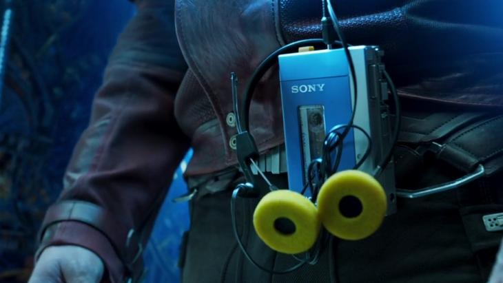 Sony Walkman in 'The Guardians of the Galaxy'
