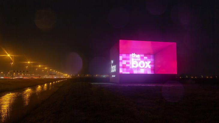 The Box langs de A4 vlakbij Schiphol