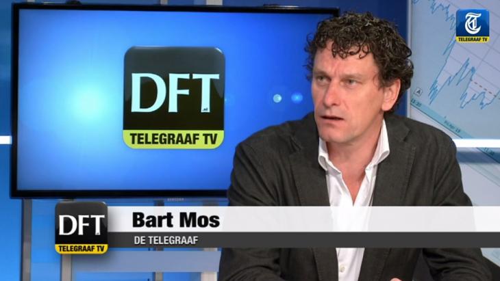 Bart Mos tijdens een uitzending van Telegraaf TV