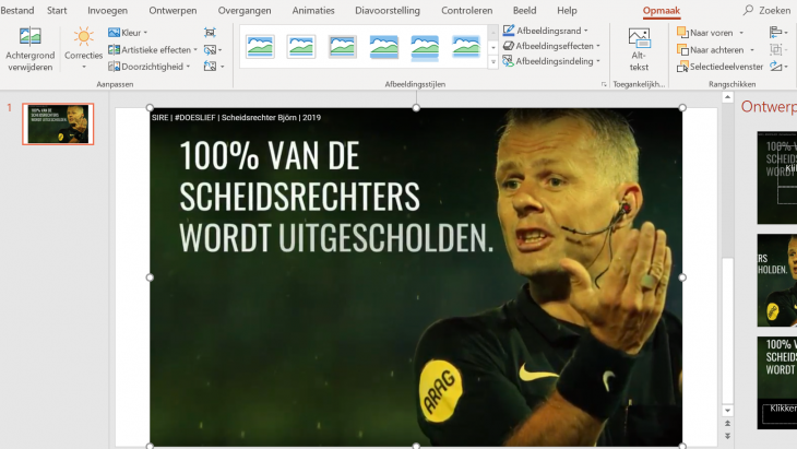 Doeslief in powerpoint