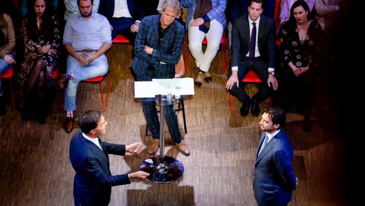 Mark Rutte, Jeroen Pauw en Thierry Baudet