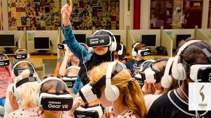 Beeld van Beat the Street-campagne van Samsung om  smartphonegebruik onder scholieren in het verkeer terug te dringen.