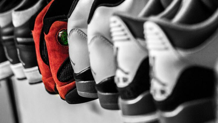 Rijtje sneakers