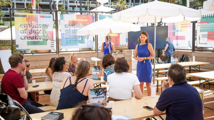 Kennissessie tijdens Embassy of Dutch Creativity, Cannes 2019
