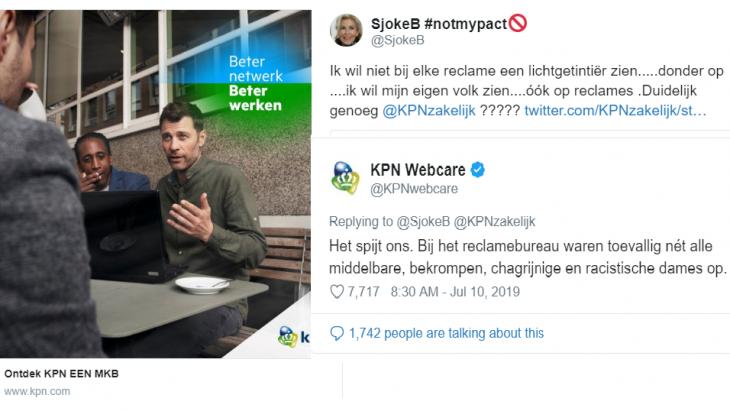 De tweet en reactie van KPN
