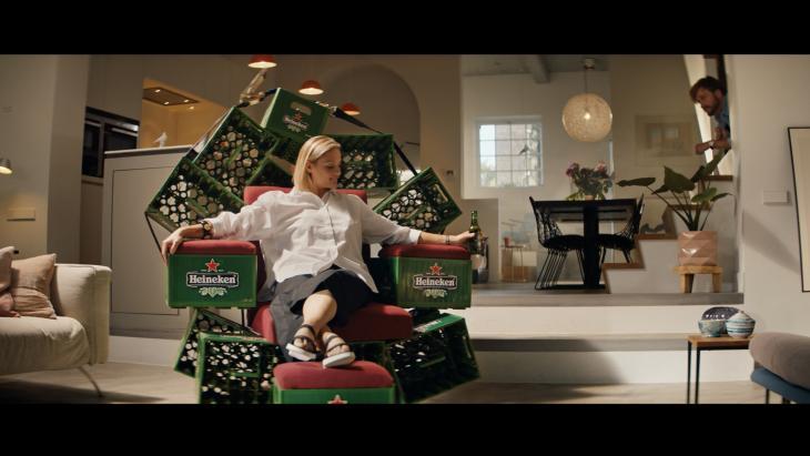 De kratstoel van Heineken