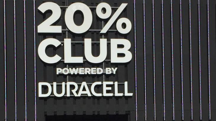 20% CLUB Duracell