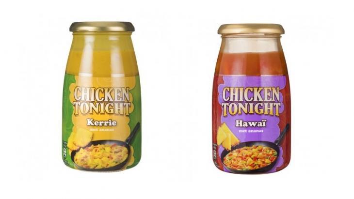 Kip kerrie en kip Hawaï
