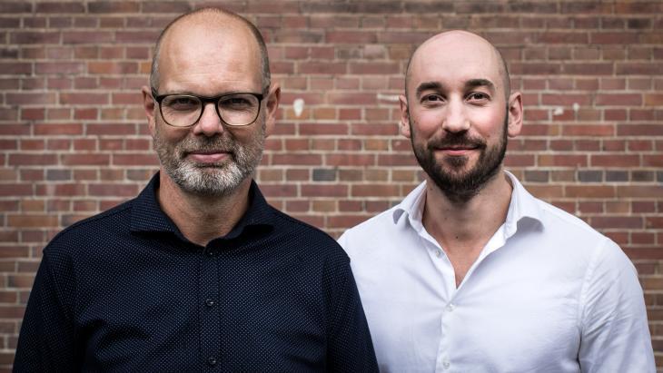 Roland van Maanen (links) en Markward van der Mieden