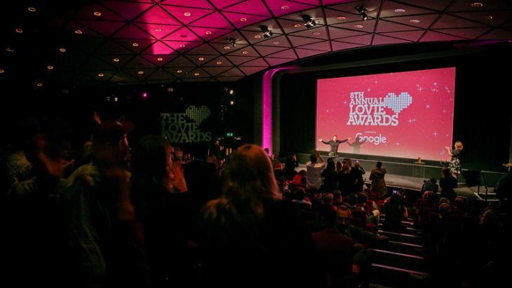 Foto van de awardshow van 2018.