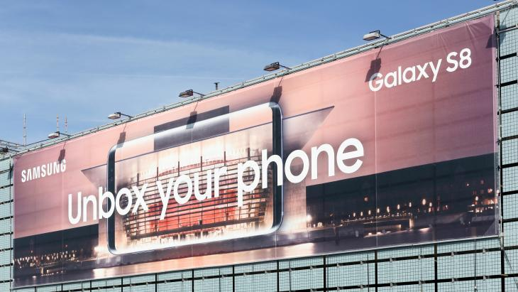 Samsungs eigen reclame