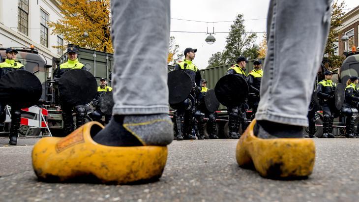 Foto van het boerenprotest.