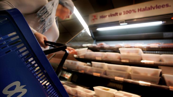 Halal-vlees in de schappen bij Albert Heijn