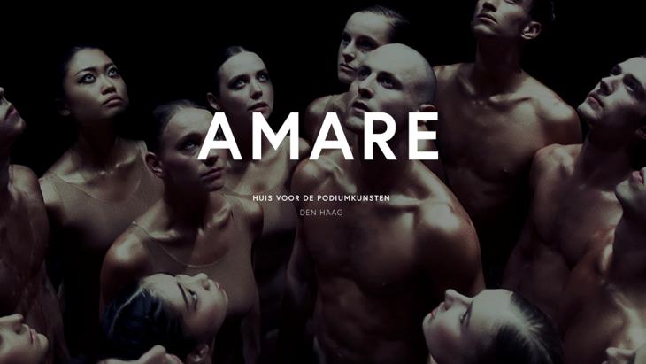 Een affiche van Amare in Den Haag