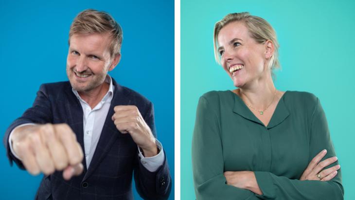 Sander Bakker en Jessica Groot