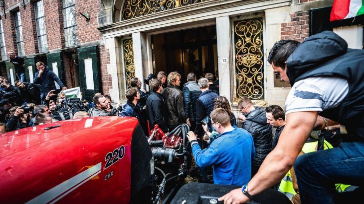 Protest boeren in Groningen