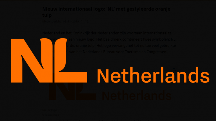 Het NL-logo met gestileerde tulp