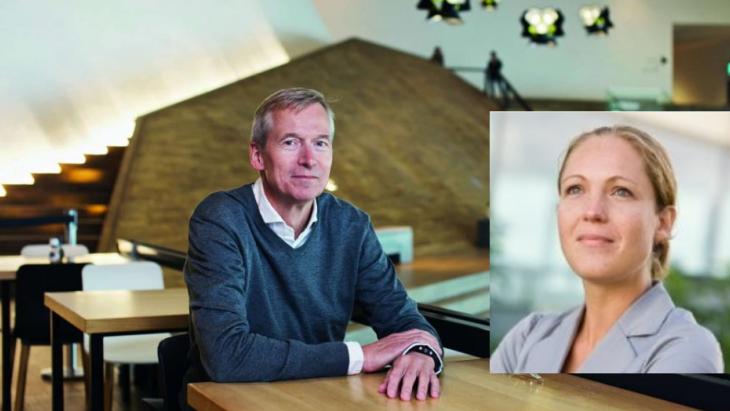 Ron Vrijmoet met Hanneke ten Hove in het inzetje