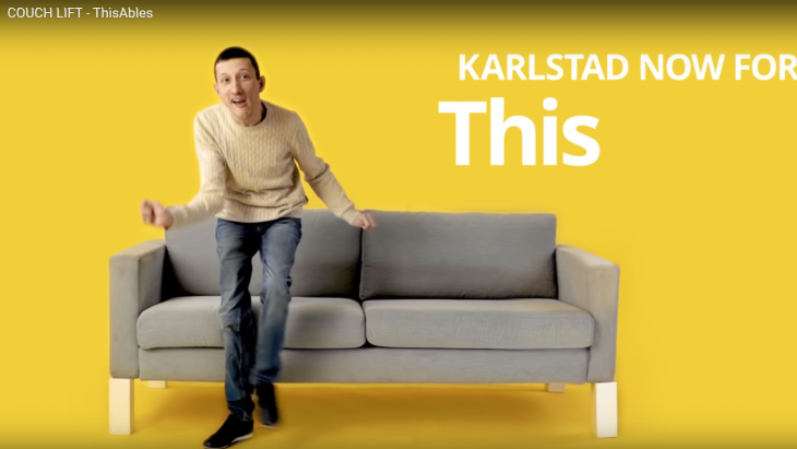 Uit een filmje van Ikea's ThisAbles