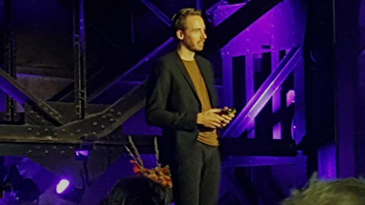 Joost Rietveld, managing director Too Good To Go Nederland, vlak na de bekendmaking van de ranglijst en winst.
