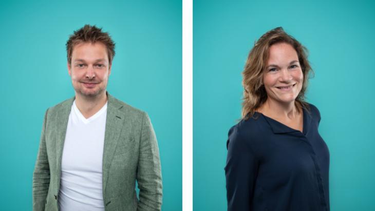 David van Dam en Rebecca Meijers