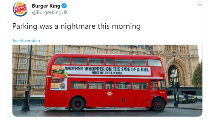 De bus met de BurgerKing-inhaker