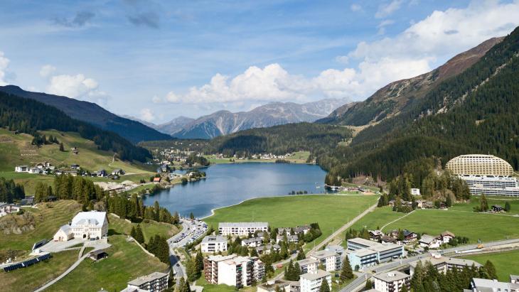Davos, waar het World Economic Forum wordt gehouden