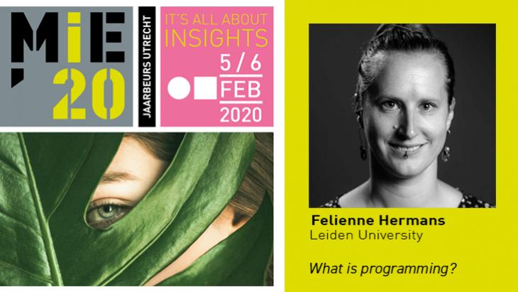 Felienne Hermans, Keynote op MIE'20, 5 februari 2020