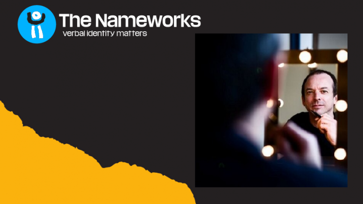 Beeld van de homepage van The Nameworks, met Robert Jan Heyning in inzetje