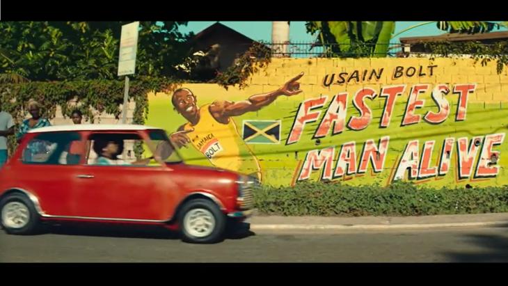 Beeld uit de commercial met Usain Bolt