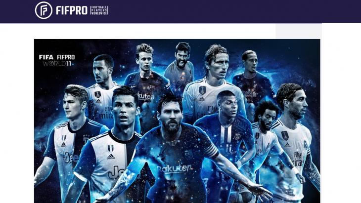 Fifpro houdt jaarlijks een peiling onder leden en stelt een elftal van de beste voetballers samen