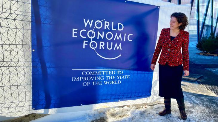 Yvonne Nassar in Davos