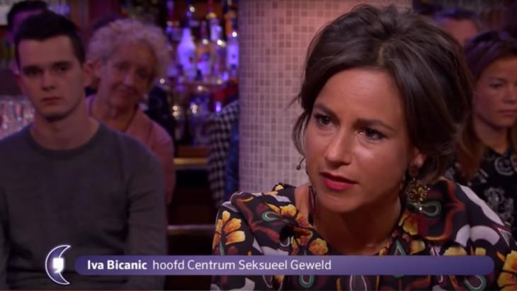 Iva Bicanic tijdens een mediaoptreden bij RTL Late Night